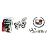 Set Ecrous antivols de roue pour CADILLAC Jantes tole acier ou jantes aluminium (Selon Année modèle)