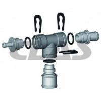 Connecteurs durite en T 4mm (Sachet 10 pieces)
