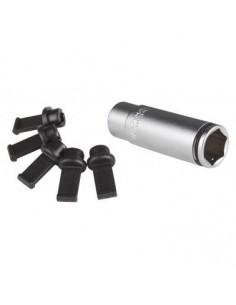 Douille bougie PSG 12mm 6 pans avec 5 capuchons protecteurs PSG