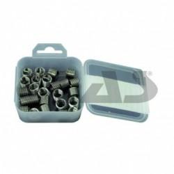 Boite de 25 inserts reparation traudage par filet acier inox rapportes M8x1.25