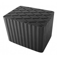Tampon levage caoutchouc rectangulaire 160x120x115mm
