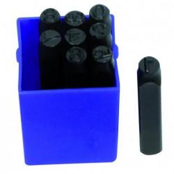 Chiffres a frapper din 8 mm (Coffret 9 pièces 0 à 9)