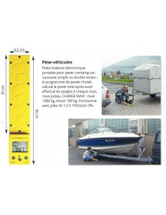 Pèse remorque et véhicule éléctonique (Maxi 1000 kgs par roue)