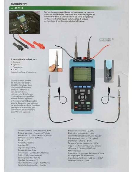 Oscilloscope (contrôle Tension/Signaux/Fréquence/RCO)