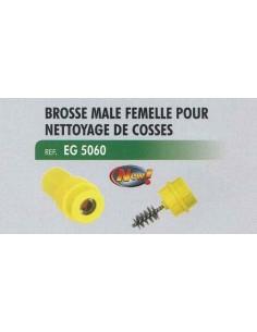 Brosse male/femelle nettoyage cosses electriques batteries