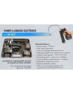 Pompe a huile moteur électrique sur accus pour futs 180 et 220 kgs.