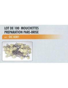Lot de 100 mouchettes preparation pare-brise