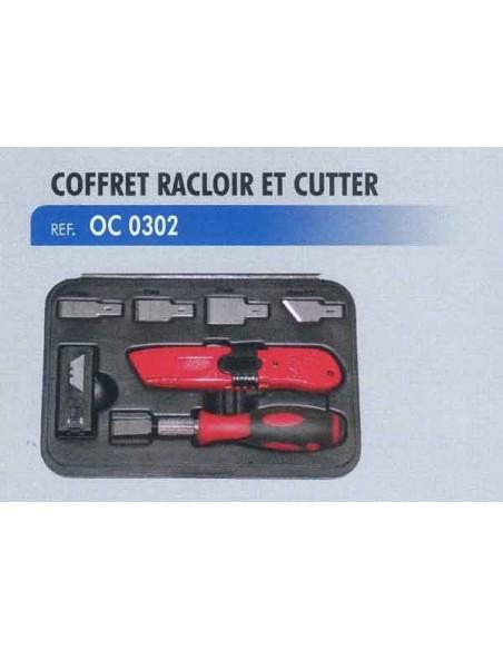 Coffret racloir et cutter mecanicien