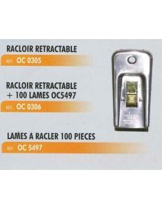 Racloir retractable (livre avec 100 lames droites CL-OC-5497)