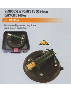 Ventouse pompe 140 kgs pare brise poids lourds diametre 254mm