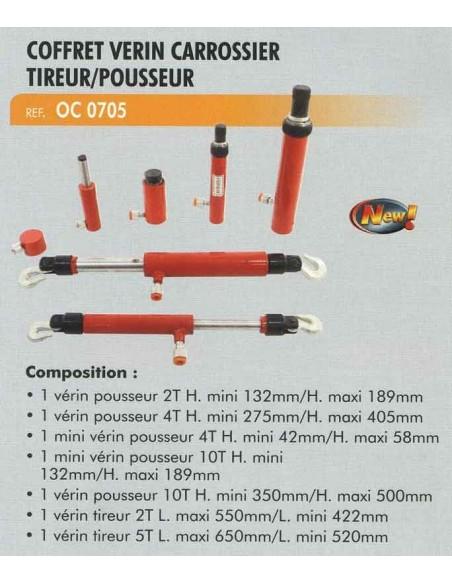"""Verin carrossier tireur/pousseur 1/4"""" (Coffret)"""