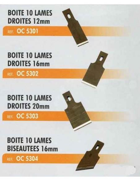 Lames biseautees 16mm racloir CL-OC-0302/0304/0305 (Boite 10 pieces)