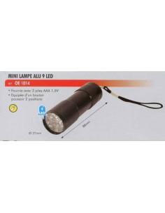 Mini lampe alu 9 led (27 x 88 mm) 3 piles AA 1.5 V