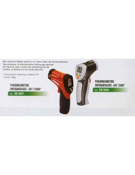 Thermometre infrarouge -50 degres /1000 degres