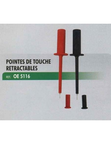 Pointes de touche retractables tests electriques