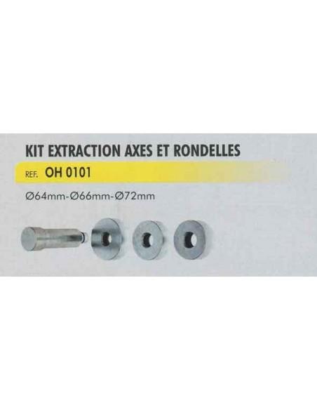 Kit extraction axes et rondelles (3 pieces 64/66/72 mm)