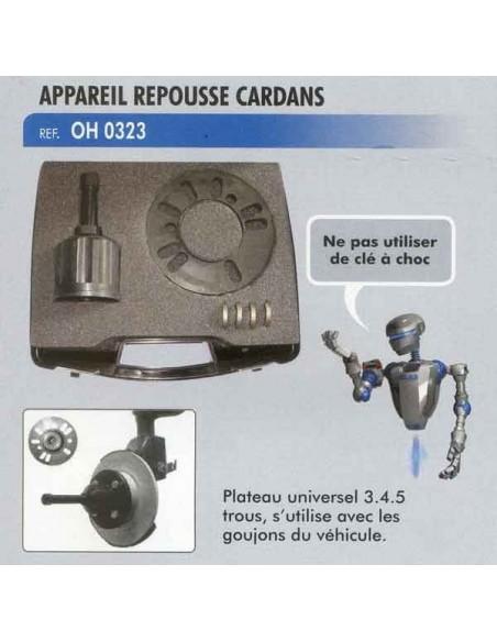 Appareil repousse cardans plateau 130 x 62 mm 3/4/5 trous