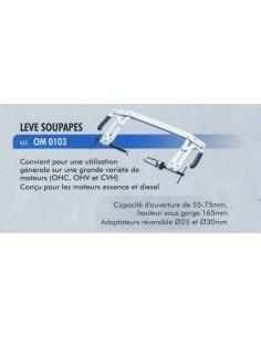 Leve soupapes (ouverture 55 a 175 mm / Adaptateurs reversible D 25 et D 30mm) moteurs Essence/Diesel