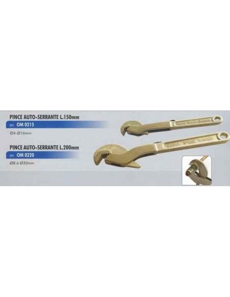 Pince auto-serrante diametre 8 a 20 mm longueur 200mm