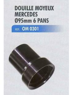 Douille moyeux MERCEDES diametre 95 mm 6 pans