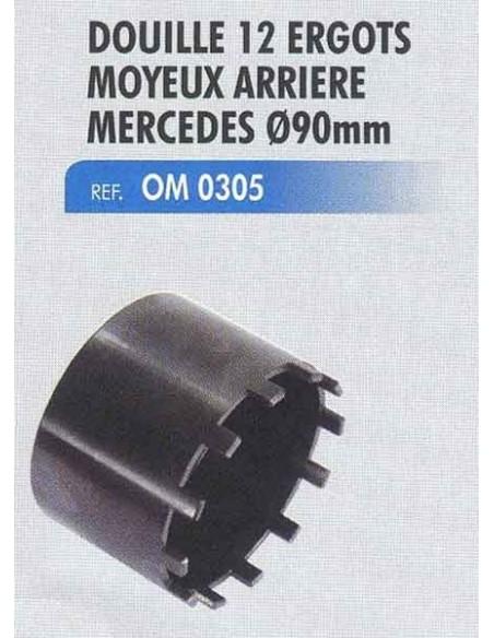 Douille 12 ergots moyeux arriere MERCEDES diametre 90mm