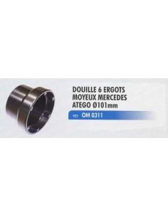 Douille 6 ergots moyeux MERCEDES Atego diametre D 101mm