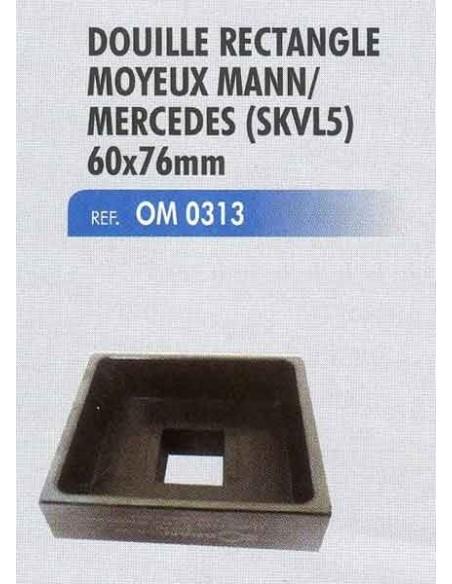 Douille rectangle moyeux mann / MERCEDES (skvl5) 60x76 mm