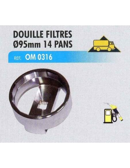 Douille filtre huile ø95mm 14 pans Man F2000, TGA, TGV