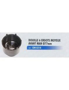 Douille 6 ergots moyeux avant MAN diametre D 77mm VW2. 4. 6.1 et 6.8