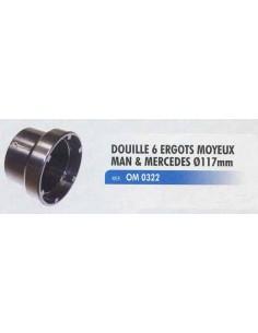 Douille 6 ergots 117 mm démontage moyeu MAN et MERCEDES TGA
