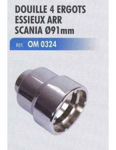 Douille 4 ergots essieux arr SCANIA diametre D 91mm