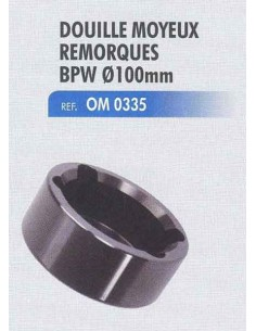 Douille 100 mm moyeu remorque BPW 12t H, R, K, N, ECO H/KH/N, ECO-MAXX H/KH/N, ECOPlus H/KH