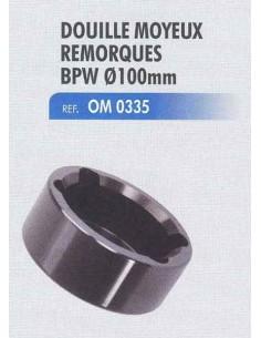 Douille moyeux remorques BPW 12t diametre 100 mm
