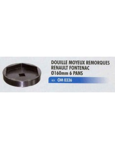 Douille moyeux remorques RENAULT fontenac diametre 160 mm 6 pans
