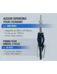 Alesoir expansible cylindres diametres 50 a 180 mm