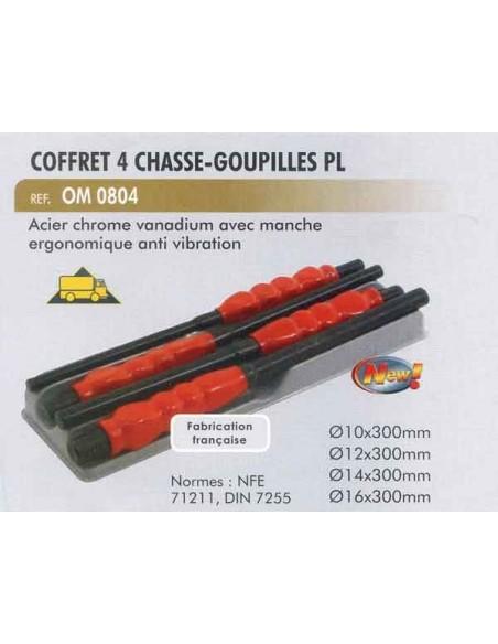 Chasse-goupilles poids lourds pl (coffret 4 pieces 10/12/14/16 mm)