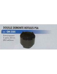 Douille demonte rotules direction PSA PEUGEOT CITROEN Prise 6 pans de 35 mm Diametre 51 x 43 mm