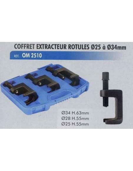 Extracteur rotules de direction diametre 25 a 34mm (Coffret)