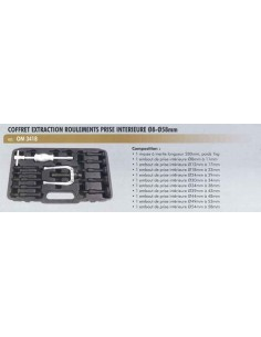 Extracteur roulements prise interieure diametre 8 a 58 mm (Masse inertie 1 kg)