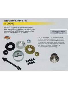 Kit pose roulements VOLKSWAGEN/AUDI avec clips verrouillage