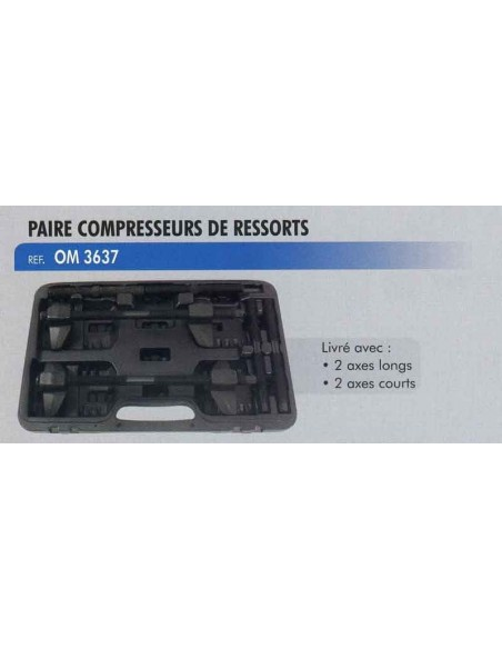 Paire compresseurs ressorts amortisseur automobile (2 axes courts/2 axes longs)