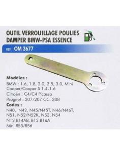 Outil verrouillage poulie damper (Poulie amortissante) BMW/Mini -PSA essence