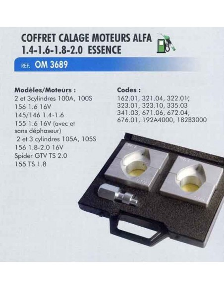 Calage DISTRIBUTION moteur ALFA ROMEO 1 4-1 6-1 8-2 0 ESSENCE (Coffret)
