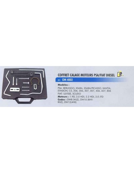 Coffret calage distribution moteurs PSA PEUGEOT / CITROEN / FIAT / LANCIA / FORD / VOLVO Essence/diesel