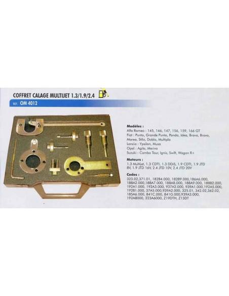 Coffret calage distribution moteurs FIAT /ALFA ROMEO/SUZUKI multijet 1.3/1.6/1.9/2.4 L