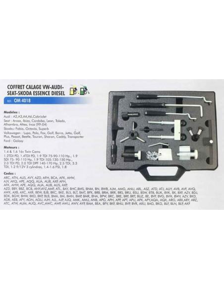 Coffret calage distribution moteurs VW/AUDI/SEAT/SKODA Essence/Diesel