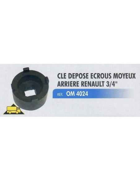 Cle depose ecrous moyeux arriere RENAULT/MASCOTT carre 3/4 pouce Diametre 68 mm dents 13.5 mm