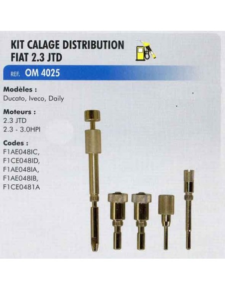 Piges CALAGE distribution MOTEURS FIAT / IVECO 2 3 JTD (5 pieces)