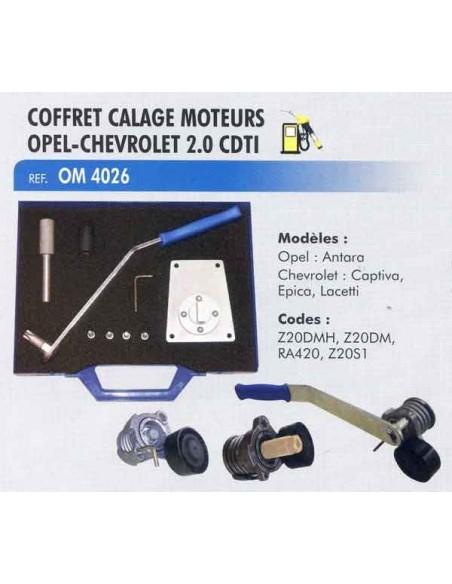 Calage distribution moteurs OPEL/CHEVROLET/DAEWOO 2.0 l diesel CDTI / TDCI / VCDI