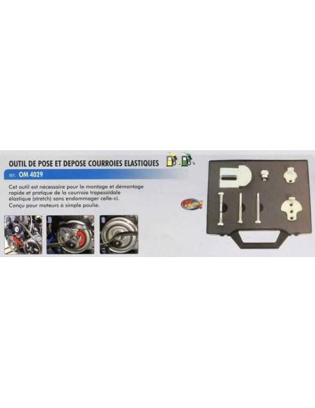 Outil pose/dépose courroies moteur trapézoïdale (distribution/Accesssoires)
